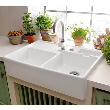 Picture of a stylish tap and kitchen sink